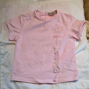 Eliana et Lena Girls Short Sleeve Pink T-shirt